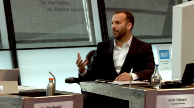 Zack Polanski in the London Assembly chamber