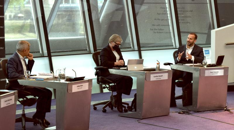 Zack Polanski AM in chamber with Mayor of London